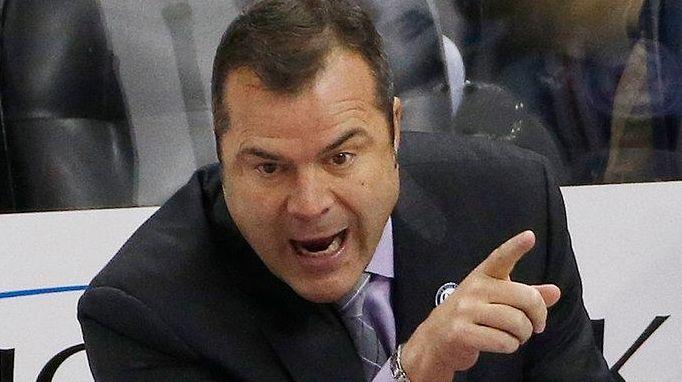 New York Rangers' head coach Alain Vigneault gives