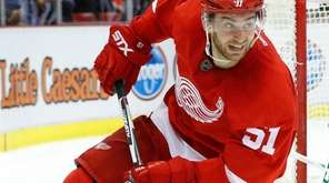 Detroit Red Wings' center Frans Nielsen skates against