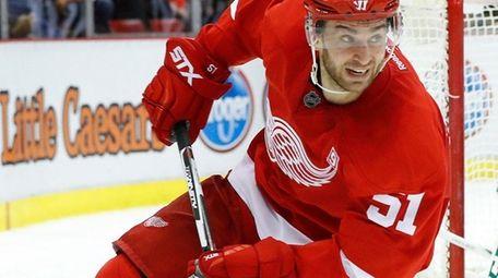 Detroit Red Wings' center Frans Nielsen skates against