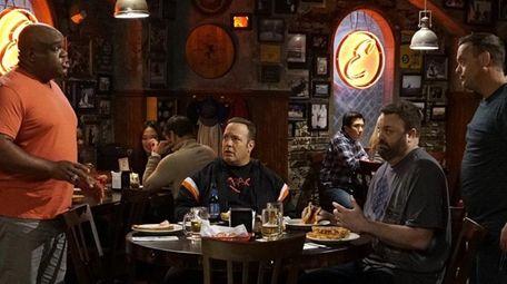 From left, Leonard Earl Howze, Kevin James, Chris