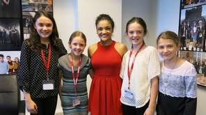 Kidsday reporters from Port Washington meet Olympic gymnast