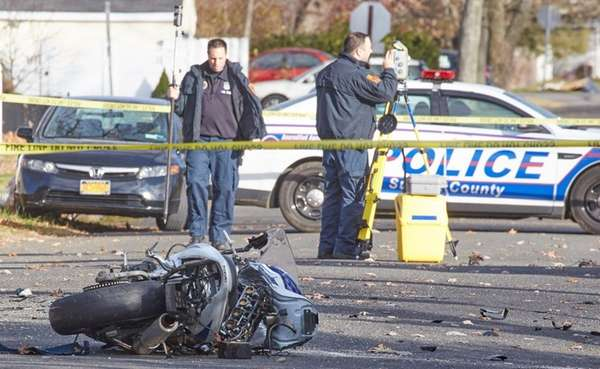 A motorcyclist died Saturday, Dec. 3, 2016, after