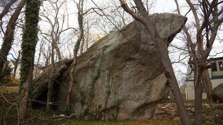 The boulder in Rocky Point on Saturday, Dec.