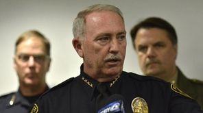 Santa Maria Police Chief Ralph Martin addresses reporters