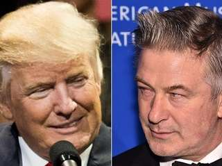 President-elect Donald Trump and actor Alec Baldwin exchanged