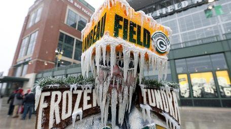Green Bay Packers fan Jeff Kahlow walks outside