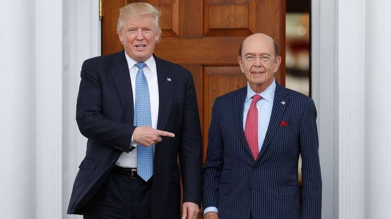 President-elect Donald Trump with investor Wilbur Ross in