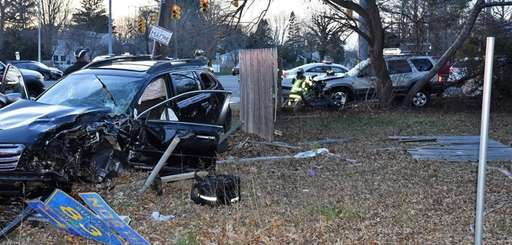 Police say two vehicles collided at the intersection