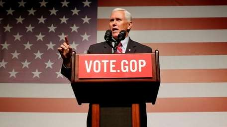 Vice President-elect Mike Pence speaks at a