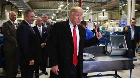 Donald Trump visited the Carrier company in Indianapolis,