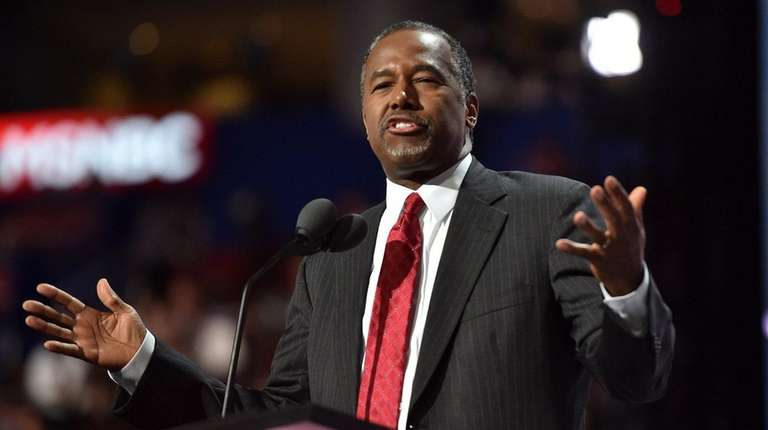 Ben Carson on Monday was named to
