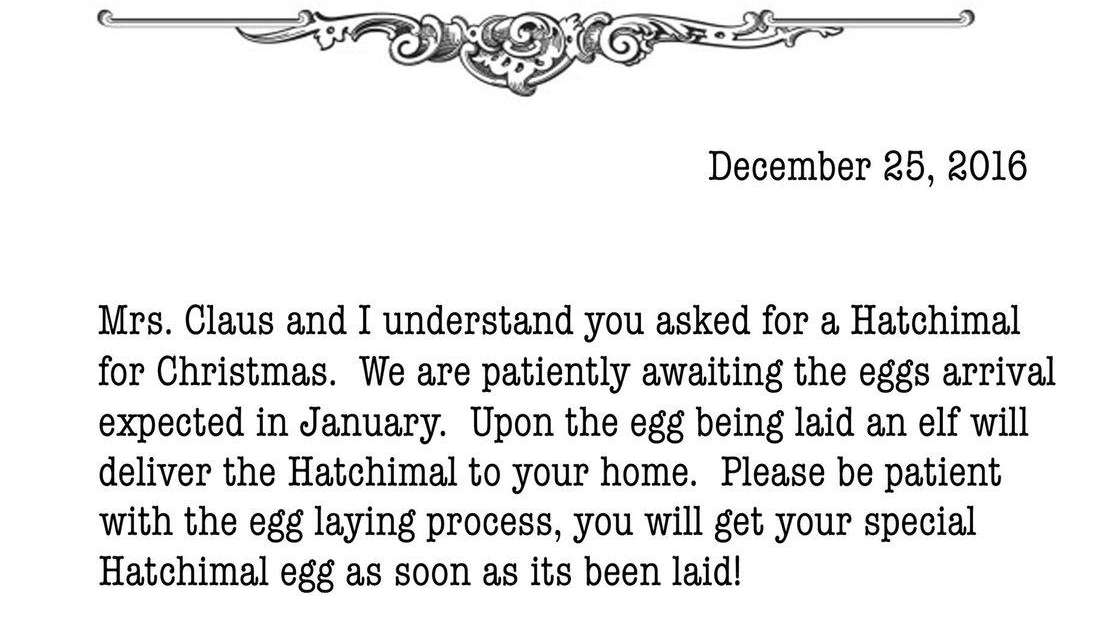 Hatchimals Shortage Mom Explains With Letter From Santa  Newsday