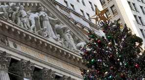 The annual New York Stock Exchange Christmas tree