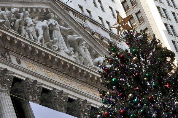 The annual New York Stock Exchange Christmas tree