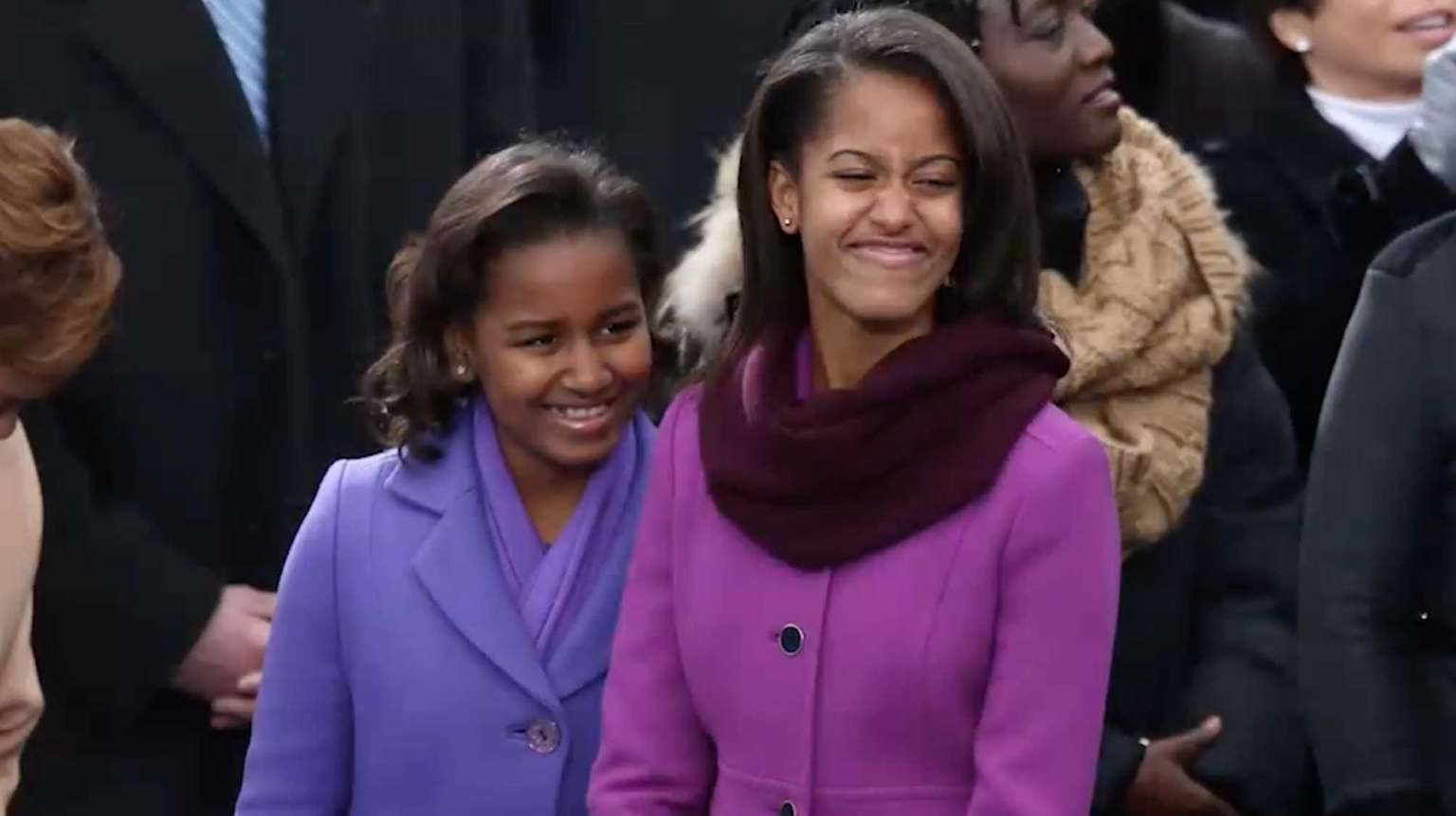 Malia and Sasha through the years