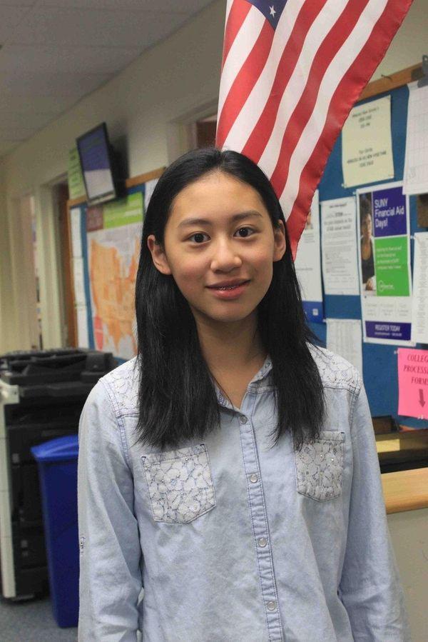 Carrie Hsu, a freshman at Herricks High School,