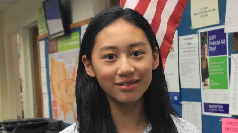 Carrie Hsu, a freshman at Herricks High School,