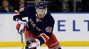 New York Rangers left wing Marek Hrivik crosses