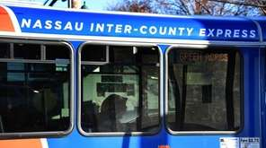 The Nassau Inter-County Express Elmont Flexi stops on