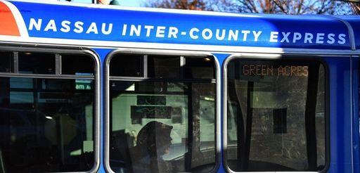 The Nassau Inter-County Express Elmont Flexi stops on