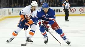 New York Rangers right wing Michael Grabner skates