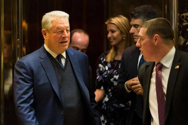 Al Gore leaves Trump Tower after meeting with