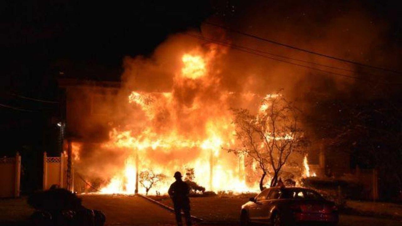 A fire Monday night, Dec. 5, 2016, gutted