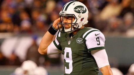Bryce Petty of the New York Jets walks