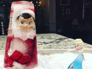Elsa puts a freeze on elf's antics...