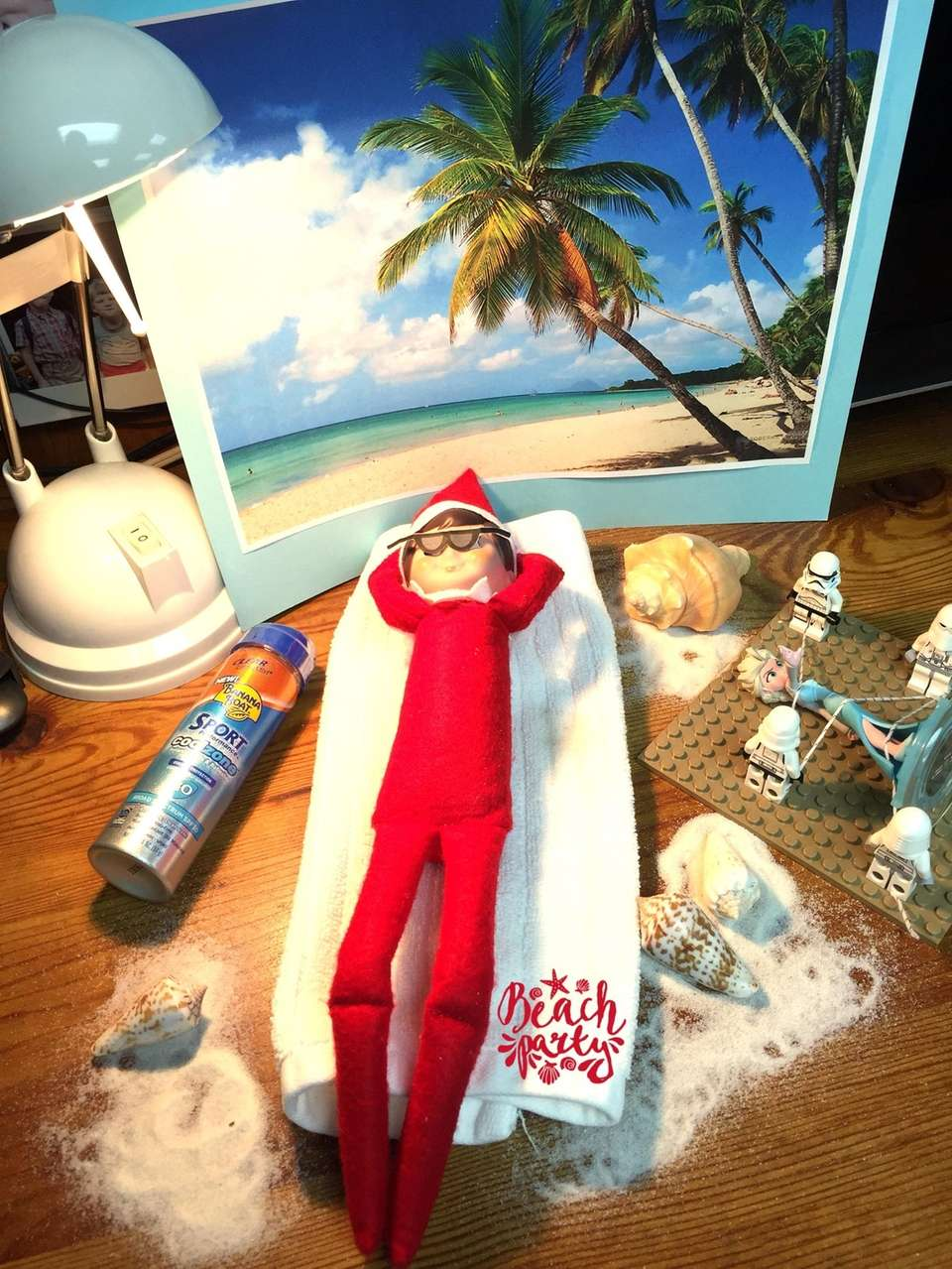 Today elf thinks warm happy thoughts, while Elsa