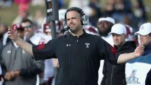 Head coach Matt Rhule of the Temple Owls