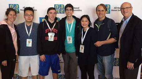 Four Syosset High School students were selected to