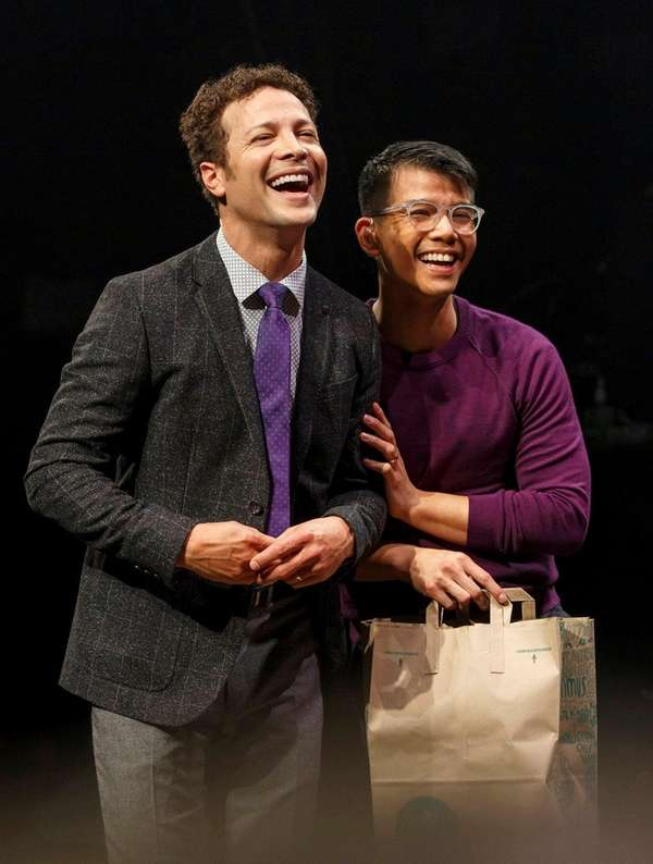 Justin Guarini, left, and Telly Leung in