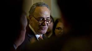 Sen. Chuck Schumer (D-N.Y.) at the Capitol on