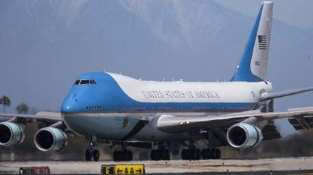 Air Force One in Los Angeles, Calif. on
