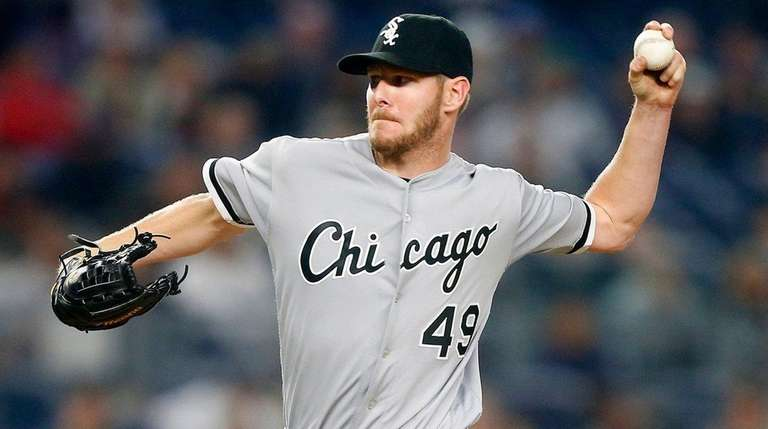 Chris Sale of the Chicago White Sox pitches