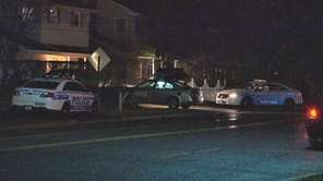 Suffolk County police investigate a crash in Huntington,