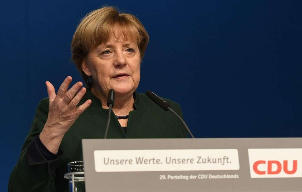 2015: German Chancellor Angela Merkel
