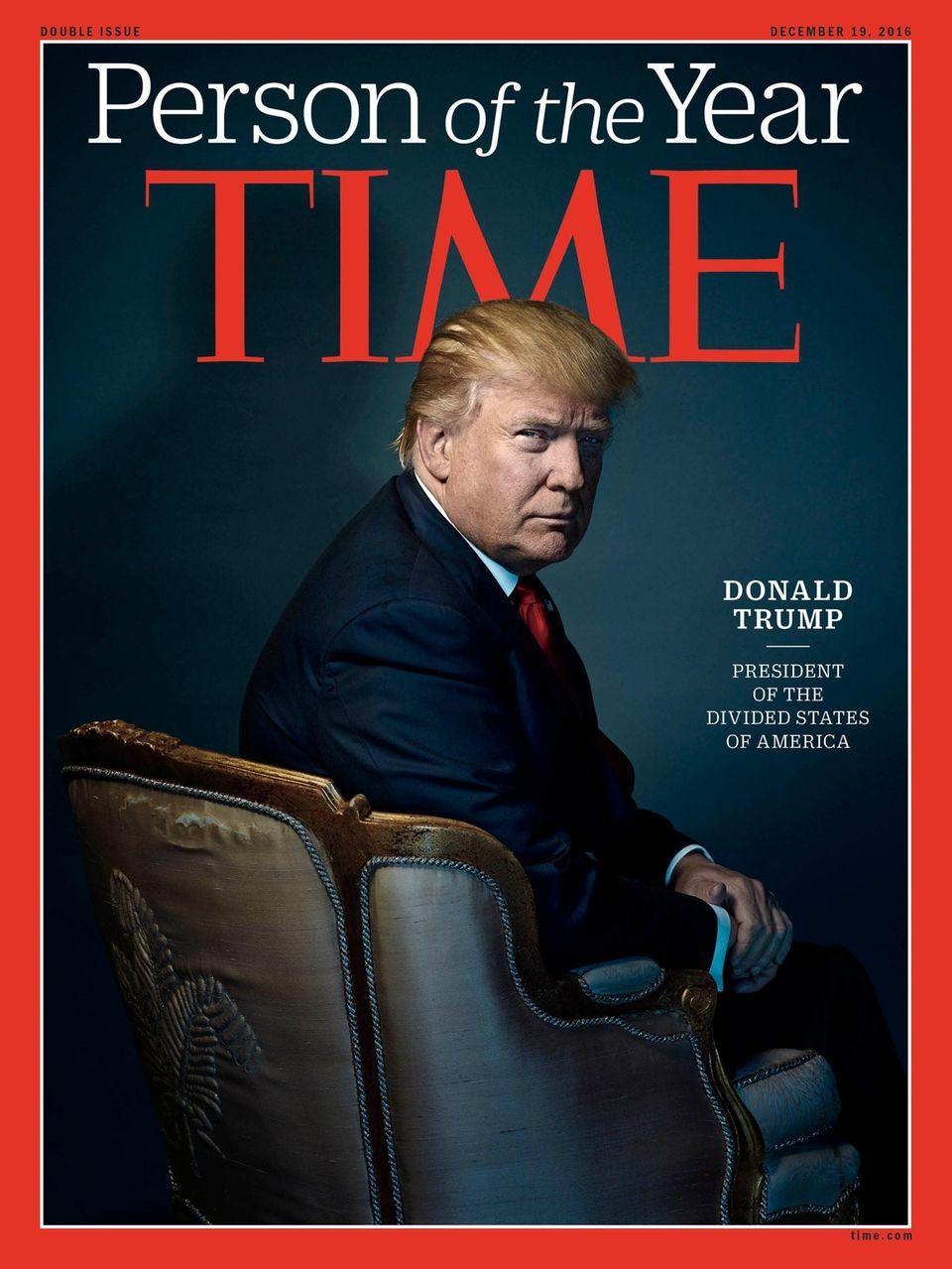 2016: U.S. President-elect Donald Trump