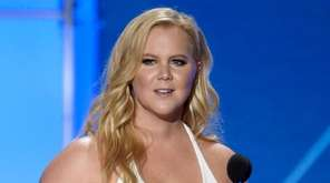 Amy Schumer accepts the Critics' Choice MVP award