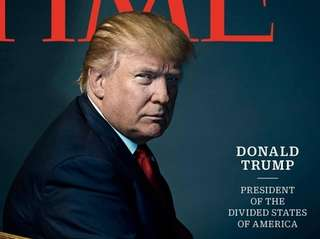 Time magazine has selected U.S. President-elect Donald Trump