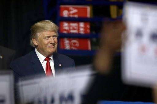 President-elect Donald Trump is introduced during a rally