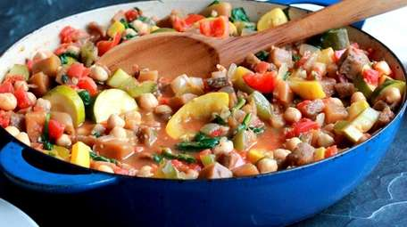 Eggplant, zucchini, summer squash, tomatoes, bell peppers and