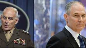 This composite shows former U.S. Southern Command Commander