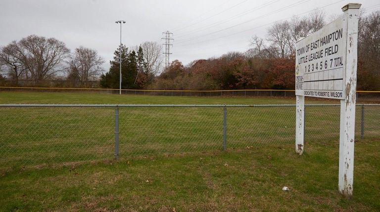 Town of East Hampton Little League field in