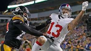Giants receiver Odell Beckham Jr. cannot make the