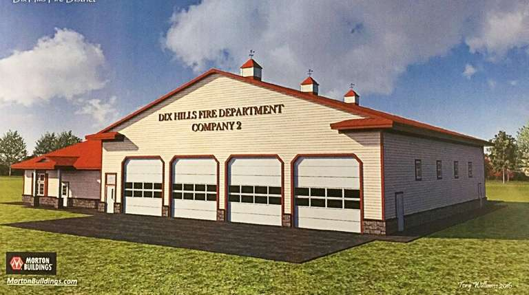 A rendering of the four-bay substation that will