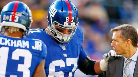 Justin Pugh #67 of the New York Giants