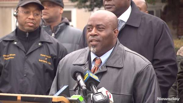 Black law enforcement organizations rallied outside the Garden