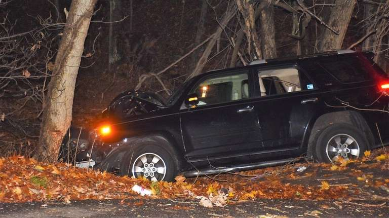 A driver died in Mount Sinai on Wednesday,